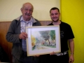 Lot offert par Louis Roche (á gauche) et le gagnant M. Charbonnel de Saint Julien