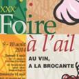 Du 09 ou 10 août 2014 en centre ville de Billom 04 73 73 37 67 Foire annuelle de l'ail d'Auvergne rassemblant de nombreux exposants. Les réservations d'emplacement s'effectuent directement […]