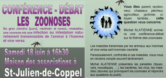 Conférence sur les zoonoses, ces maladies transmissibles de l'animal à l'homme et vice-versa Une trentaine de personnes ont profité des explications de Monsieur Michel ALATIENNE lors de la conférence sur […]