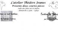 Première représentation par l'Atelier Théâtre Jeunes Dimanche 11 juin après-midi, c'était la première fois que les jeunes de l'atelier théâtre nouvellement créé donnaient une représentation devant le public de Saint-Julien. […]