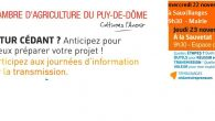 >>>La chambre d'agriculture du Puy-de-Dôme vous informe le 22 11 2017 à Sauxillanges, le 23 11 2017 à La Sauvetat La chambre d'agriculture du Puy-de-Dôme a défini commune un de […]