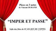 La troupe de théâtre «Les tréteaux coppellois» vous invite à découvrir sa dernière interprétation : «Imper et passe» de Vincent Durand. 2 séances auront lieu à la salle des […]