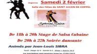 Le club de danse «Ol'pabeduco»organise samedi 2 février de 18 à 20 heures un stage de salsa cubaine suivi d'une soirée dansante jusqu'à 22 heures à la salle des […]
