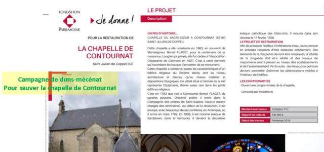 >>>Bon de souscription, précisions sur la campagne de dons mécénat 2019, pour la Chapelle de Contournat  LA CHAPELLE DE CONTOURNAT La chapelle du Sacré-Cœur à Contournat, commune de Saint-Julien-de-Coppel […]