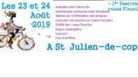 Le comité des fêtes organise une grande fête patronale sur le thème des «Roues fleuries», vendredi 23 août après-midi et samedi 24 août 2019. Le programme ci-dessous présente et propose […]