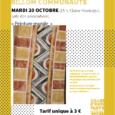 Le mardi 20 octobre de 15 h à 16 h 30 à Glaine-Montaigut, le service éducatif du PAH organise un atelier autour de la peinture murale pour les 6-12 ans. […]