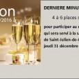 4 à 6 places sont disponibles pour le réveillon de la Saint-Sylvestre, organisé à la salle des Fêtes de Saint-Julien-de-Coppel, par l'association des Tréteaux Coppellois, jeudi 31 décembre à partir […]
