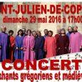 Quelques photos du concertdu29 maià l'église de St-Saint-Julien-de-Coppel. Le CCAS a organisé un nouveau concert en l'église de Saint Julien de Coppel. Ce dimanche se sont produits les choristes de […]