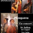 Samedi 1er Juin à partir de 17h au petit marché du Breuil Concert Papaguena et Moris Bouchon Papaguena Deux voix lead sur des reprises issues d'univers différents, un mélange […]
