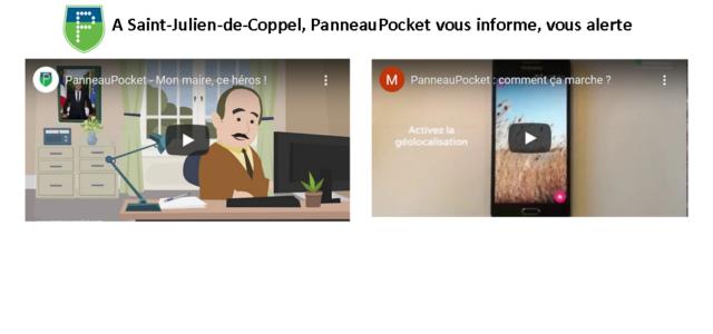 Les infos dans la poche, la commune de Saint-Julien-de-Coppel vient de s'équiper, pour être au plus près de vous. PanneauPocket, ce nouveau dispositif d'information et d'alerte, depuis votre poche vous […]